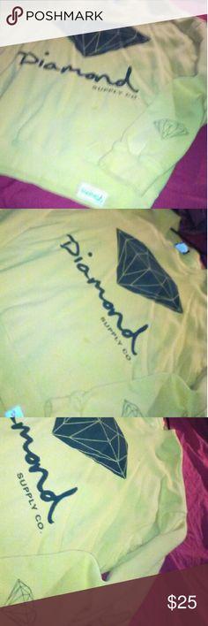 Men's diamond supply shirt Men's yellow and black diamond supply shirt Diamond Supply Co. Shirts Sweatshirts & Hoodies