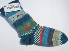 Socken - Fair Isle Socken Abra Gr. 40/41 - ein Designerstück von Lotta_888 bei DaWanda