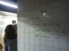 Sin subway street art.