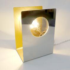 Metal / leather led lamp