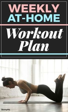 Try this Weekly At-Home Workout Plan to loose weight and build muscle.   Best Home Workout   Full Body Workout