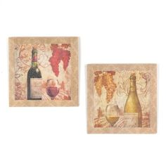 Vineyard Beveled Canvas Art Print, Set of 2 | Kirkland's