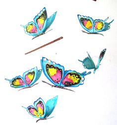Mobile, Butterfly Mobile, hanging mobile for babies and children, crib mobile, nursery mob... $35 Bird Mobile, Butterfly Mobile, Hanging Mobile, Nursery Art, Cribs, Art Decor, Babies, Children, Toddlers