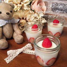 片栗粉でいちごのとろける牛乳プリン/Arisa Natuki | SnapDish[スナップディッシュ] (ID:y8aDOa) Sweets Recipes, Snack Recipes, Cooking Recipes, French Dip, Gluten Free Snacks, Strawberry Desserts, Something Sweet, Milkshake, Japanese Food