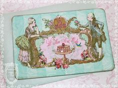Let Them Eat Cake Marie Antoinette French Aqua or by papernosh