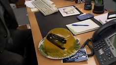 The classic: stapler in Jell-O. #TheOffice