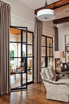 Living room - beautiful doors and flooring | Grandeur Design