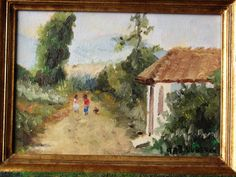 pequeña pintura campo chileno