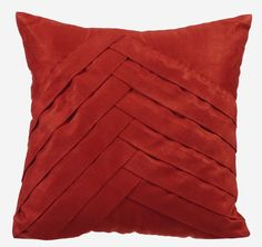 Rust Pillow Cases 16x16 Couch Pillows Pleated by TheHomeCentric