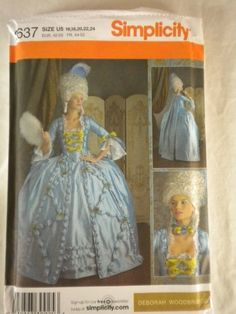 OOP Simplicity 18th Century Costume Pattern 3637. Misses ... https://www.amazon.com/dp/B008B0X26U/ref=cm_sw_r_pi_dp_x_twigyb147SFEZ