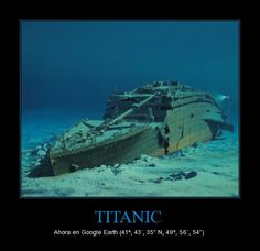 The #Titanic now available at #Googleearth