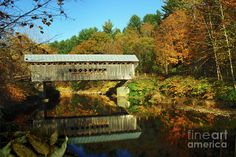 Image detail for -Worrall's Bridge Vermont - New England Fall Landscape covered bridge ...