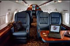 Bombardier Global Express private jet interior