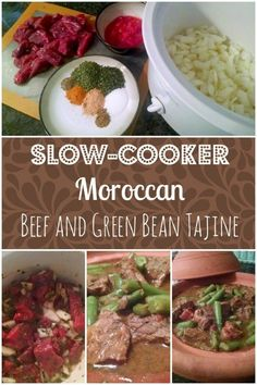 Slow Cooker Moroccan Beef and Green Bean Tajine - crockpot friendly freezer meal perfect for your busy schedule!