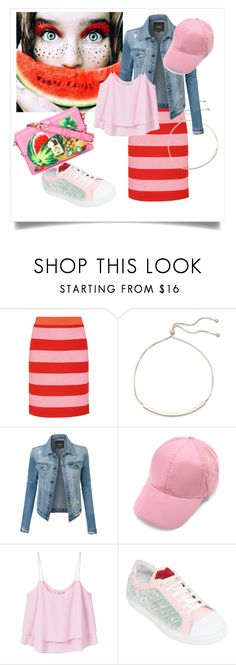 """Watermelon 🍉"" by ec300 ❤ liked on Polyvore featuring Boutique Moschino, BillyTheTree, LE3NO, MANGO, Giannico and Dolce&Gabbana"