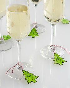 Shrink plastic wine glass drink tag! By David Stark Design on Martha Stewart                                                                                                                                                                                 More