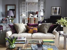 (How to DO Purple) Transitional Living-rooms from Design Development on HGTV