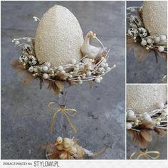 Easter Egg Crafts, Easter Projects, Easter Art, Easter Eggs, Bird Nest Craft, Easter 2018, Easter Celebration, Egg Decorating, Vintage Easter