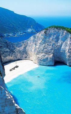 Navagio Shipwreck Beach Smugglers Cove Zakynthos Greece iPhone 6 Plus HD Wallpaper