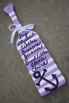 Nautical Preppy Lilac and Purple Anchor Paddle by KraftsbyKristie, $40.00