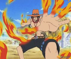 You ain't going to touch my brother, Monkey D. Luffy! Ace stopped Smoker and taught him who is the boss!