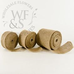 Beautiful Ribbon in Natural Jute Burlap with Multiple Sizes to Choose From!