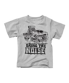 Love this Silver 'Bring the Noise' Tee - Toddler & Boys on #zulily! #zulilyfinds