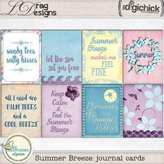 Summer Breeze: Journal Cards by LDrag Designs