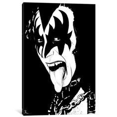 Stencil Art, Stencils, Gravure Photo, Rock Poster, Kiss Art, Rock And Roll Bands, Gene Simmons, Silhouette Art, Arte Pop