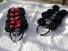 Set of 12 Minnie Mouse Birthday Party Ears by BlueBirdsblush