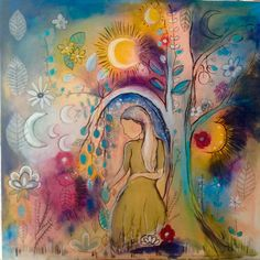 Rainbow Garden and Moon Phases   whimsical musings