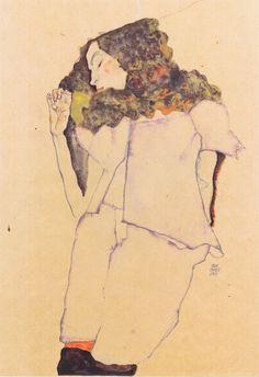 Egon Schiele - Schlafendes Mädchen - 1911