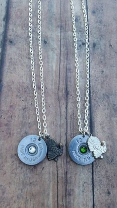 TURKEY 12 Gauge Shotgun Shell Necklace for the Country Firearm Hunting Girl