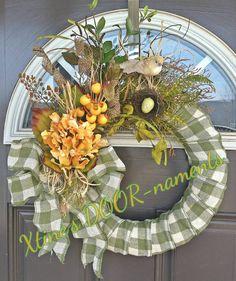 Items similar to Spring Wreath, Green Wreath, Hydrangea Wreath, Summer Wreath, Mothers Day Wreath on Etsy Wreath Crafts, Diy Wreath, Wreath Ideas, Easter Wreaths, Holiday Wreaths, Mothers Day Wreath, Summer Wreath, Spring Wreaths, Outdoor Wreaths