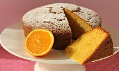 This orange blender cake uses the whole orange in the blender with the other ingredients. What a great way to use up excess seasonal fruit and have a yummy treat at the end. Delicious and simple! Whole Orange Cake, Cakes Without Butter, Cake Recipes For Kids, Homemade Birthday Cakes, Different Cakes, Baking Tins, Almond Cakes, Orange Recipes, Healthy Recipes