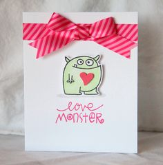 Love Monster #Card by Kalyn Kepner #PaperSmooches