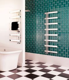 Bisque Alban Towel Radiator - Cantilevered rails allow for even the plumpest towels to be easily slid on and off. Kitchen Radiator, Radiator Shop, Towel Radiator, Bathroom Towel Rails, Bathroom Spa, Family Bathroom, Small Bathroom, Best Radiators, Cast Iron Radiators
