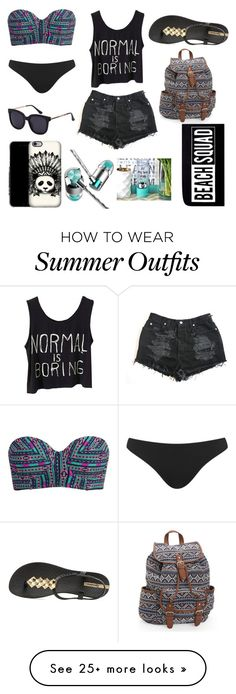 """Beach Outfit"" by haydivalladolid on Polyvore featuring Billabong, Topshop, IPANEMA, Aéropostale, Samsung and New Look"