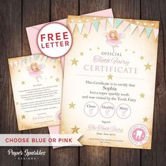 ✨Little one lost a tooth? Why not surprise them with a personalised letter and certificate from the tooth fairy...: