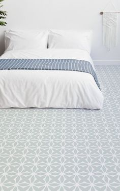 Delicate Retro Pattern Vinyl Pattern, leading Vinyl Flooring designed and manufactured by Atrafloor. Bring any design to life as Flooring. Tile Effect Vinyl Flooring, Cushioned Vinyl Flooring, Tiled Floors, Bedroom Floor Tiles, Bedroom Flooring, Retro Pattern, Pattern Design, Metal Room Divider, Window Sill Decor