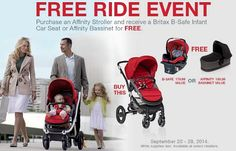 Britax Free Ride Event 2014: Buy a Stroller, Get a FREE Car Seat or Bassinet! (Until 9/28) #BritaxFreeRide