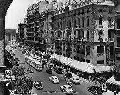 شارع فؤاد الاول سنة - Cairo .Egypt, 1950