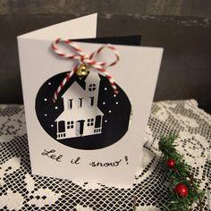 Купить Открытка Пусть Идет Снег! - комбинированный, Новый Год, Снег, подарок на новый год, рождество