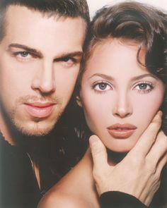 The Game Changer. My first true inspiration in this field, Kevyn Aucoin. Shown here with Christie Turlington.--iconic make up artist with the greatest model ever