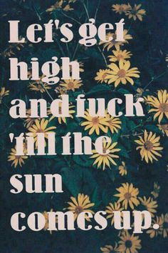 Lets get high & fuck till the sun comes up ☮ Stoner Quotes, Weed Quotes, Kinky Quotes, Fitness Workouts, Weed Humor, Weed Memes, Puff And Pass, First Love, My Love