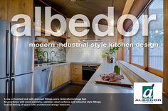 Industrial Style Kitchen, Modern Industrial, Decorative Panels, Door Design, Design Elements, Architecture Design, Kitchen Design, Wood, Home Decor