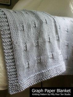 Thanks ahlucca for this post.Graph Paper pattern by Fifty Four Ten Studio.Graph Paper blanket knitting pattern is easy to knit with super bulky yarn. The repeating square pattern mimics the grid of graph paper and gives a timeless, classic des# Fifty Knitting Terms, Knitting For Charity, Baby Knitting Patterns, Crochet Patterns, Knitting Stitches, Knitting Socks, Free Knitting, Knitted Afghans, Knitted Blankets