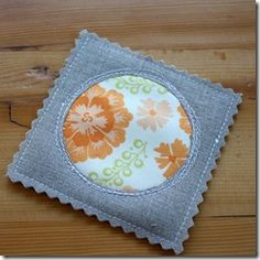 These coasters are so cute and look super easy to make.