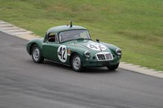 #42 MG  at VIR during the Gold Cup Races Sept. 2013 & 2014-Photo by Lewis Adams