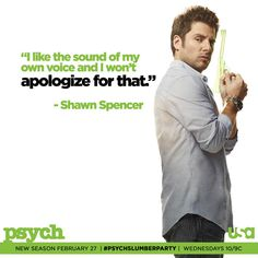 i like the sound of my own voice and i won't apologize for that: via (Psych_USA) on Twitter